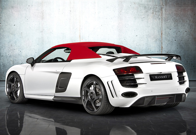 2012 audi r8 spyder mansory specifications photo price. Black Bedroom Furniture Sets. Home Design Ideas