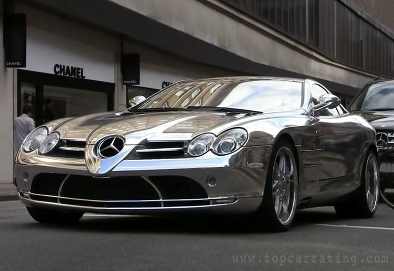 2010 Mercedes-Benz SLR McLaren (V10 Quad-Turbo) Brabus White Gold