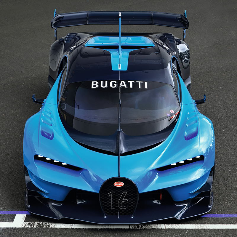 2016 bugatti vision gran turismo concept specifications photo price info. Black Bedroom Furniture Sets. Home Design Ideas