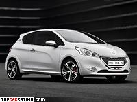 2013 Peugeot 208 GTi = 230 kph, 203 bhp, 6.5 sec.