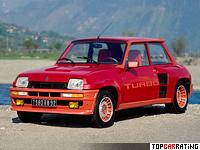 1980 Renault 5 Turbo = 204 kph, 160 bhp, 7.1 sec.