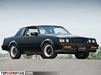 1987 Buick GNX = 200 kph, 276 bhp, 6 sec.