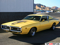 1971 Dodge Charger Super Bee = 210 kph, 385 bhp, 6.9 sec.