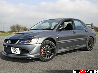 2004 Mitsubishi Lancer Evolution VIII MR FQ-400 = 267 kph, 411 bhp, 4 sec.