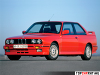 1986 BMW M3 Coupe (E30) = 235 kph, 200 bhp, 6.7 sec.