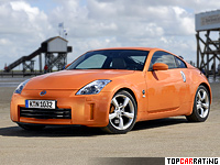 2007 Nissan 350Z (Z33) = 250 kph, 313 bhp, 5.4 sec.