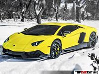2013 Lamborghini Aventador LP720-4 50 Anniversario Edition = 350 kph, 720 bhp, 2.9 sec.