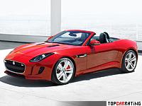 2013 Jaguar F-Type V8 S = 300 kph, 495 bhp, 4.3 sec.