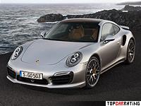 2014 Porsche 911 Turbo S (991) = 318 kph, 560 bhp, 3.1 sec.