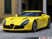 2011 Alfa Romeo TZ3 Stradale Zagato = 320 kph, 640 bhp, 3.5 sec.
