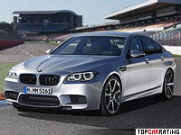 2013 BMW M5 Competition Package = 305 kph, 575 bhp, 4.3 sec.
