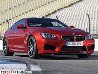2013 BMW M6 Competition Package = 305 kph, 575 bhp, 4.1 sec.