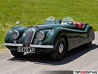 1948 Jaguar XK120 Alloy Roadster = 188 kph, 160 bhp, 10.1 sec.