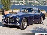1948 Ferrari 166 Inter Stabilimenti Farina Berlinetta = 170 kph, 140 bhp, 10 sec.