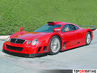 2002 Mercedes-Benz CLK GTR AMG Super Sport = 346 kph, 720 bhp, 3.6 sec.