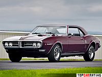 1968 Pontiac Firebird 400 = 200 kph, 335 bhp, 6.5 sec.