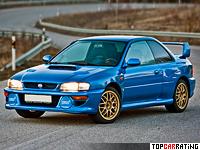 1998 Subaru Impreza 22B STi = 252 kph, 280 bhp, 5.4 sec.
