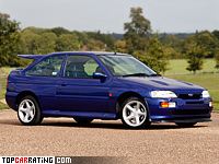 1992 Ford Escort RS Cosworth = 222 kph, 227 bhp, 6.2 sec.