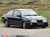 1987 Ford Sierra RS500 Cosworth = 248 kph, 224 bhp, 6.1 sec.