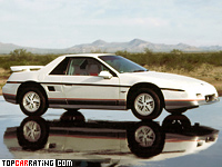 1985 Pontiac Fiero GT = 202 kph, 142 bhp, 8 sec.