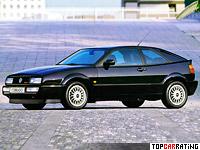 1992 Volkswagen Corrado VR6 = 235 kph, 192 bhp, 6.9 sec.