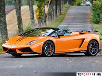 2010 Lamborghini Gallardo LP570-4 Spyder Performante = 324 kph, 570 bhp, 3.9 sec.