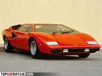 1974 Lamborghini Countach LP400 = 316 kph, 375 bhp, 5.5 sec.