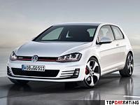 2013 Volkswagen Golf GTI = 246 kph, 220 bhp, 6.5 sec.