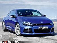 2009 Volkswagen Scirocco R = 250 kph, 265 bhp, 6.3 sec.