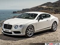 2014 Bentley Continental GT V8 S = 309 kph, 528 bhp, 4.5 sec.