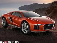 2013 Audi Nanuk Quattro Concept = 305 kph, 544 bhp, 3.8 sec.