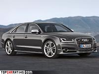 2014 Audi S8 = 250 kph, 520 bhp, 4.1 sec.