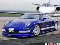 2008 9ff GT9 Porsche = 409 kph, 987 bhp, 3.8 sec.