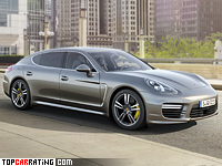 2014 Porsche Panamera Turbo S Executive = 310 kph, 577 bhp, 3.8 sec.