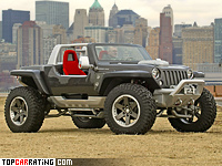 2005 Jeep Hurricane Concept = 250 kph, 670 bhp, 4.9 sec.