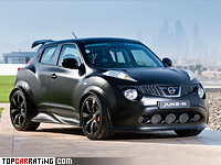 2012 Nissan Juke-R = 257 kph, 550 bhp, 3.7 sec.