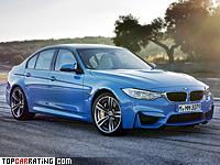 2014 BMW M3 (F80) = 250 kph, 430 bhp, 4.3 sec.