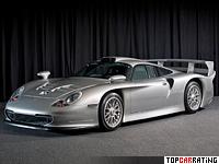 1997 Porsche 911 GT1 (996) Road car = 310 kph, 600 bhp, 3.5 sec.