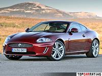 2009 Jaguar XK 5.0 Coupe = 250 kph, 385 bhp, 5.2 sec.