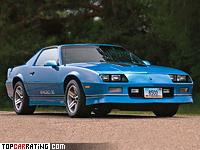 1986 Chevrolet Camaro Z28 IROC-Z = 234 kph, 223 bhp, 6.9 sec.