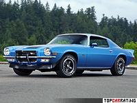1972 Chevrolet Camaro Z28 = 204 kph, 255 bhp, 6.8 sec.