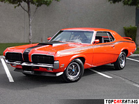 1970 Mercury Cougar Eliminator Boss 429 = 205 kph, 375 bhp, 5.7 sec.