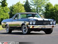 1970 Chevrolet El Camino SS 454 = 200 kph, 360 bhp, 7 sec.