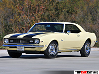 1968 Chevrolet Camaro Z/28 = 212 kph, 290 bhp, 7.4 sec.