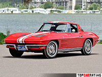 1963 Chevrolet Corvette Sting Ray Z06 (C2) = 237 kph, 360 bhp, 5.6 sec.