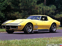 1969 Chevrolet Corvette Stingray ZL-1 (C3) = 285 kph, 580 bhp, 4.5 sec.