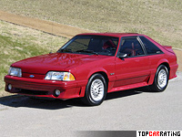 1987 Ford Mustang Cobra GT 5.0 = 230 kph, 225 bhp, 6.5 sec.