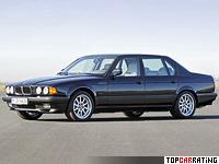 1987 BMW 750iL (E32) = 250 kph, 300 bhp, 7.4 sec.
