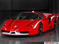 2008 Ferrari FXX Evoluzione = 340 kph, 860 bhp, 2.5 sec.