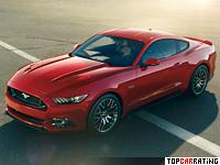2014 Ford Mustang GT = 249 kph, 420 bhp, 4.3 sec.